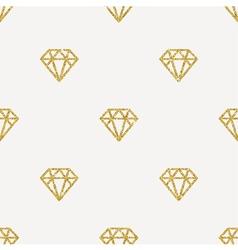 Seamless Background Glitter gold diamonds vector image vector image