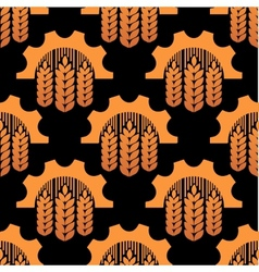 Seamless pattern of ears and gears vector image vector image