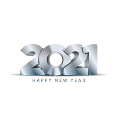 2021 happy new year concept steel texture metal vector image