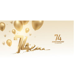 74th anniversary celebration background vector image