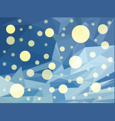 abstract blue background of snow in winter vector image
