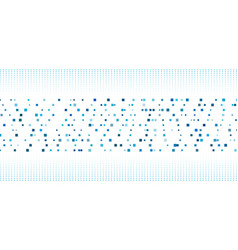 abstract blue square pattern with halftone on vector image