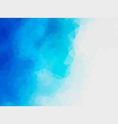 Abstract blue water polygonal background vector