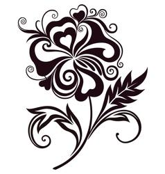 Abstract flower line-art vector