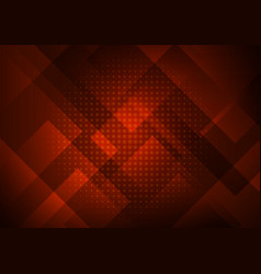 Abstract red background with geometric square vector