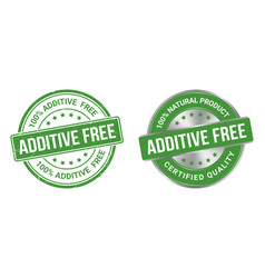 additive free grunge stamp and label vector image