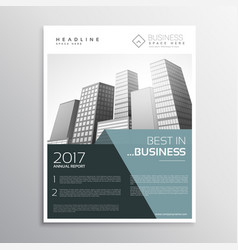 Amazing business leaflet design template in a4 vector