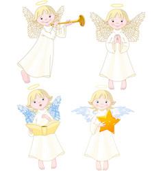 Angels set vector