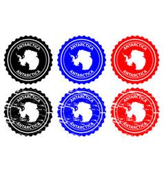 antarctica rubber stamp vector image