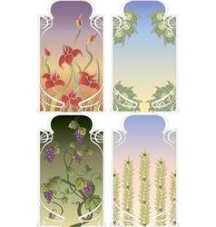 art nouveau frames vector image