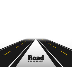 Asphat road in perspective horizon background vector