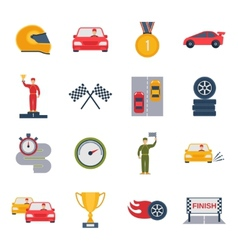 Auto Sport Icon Flat vector image