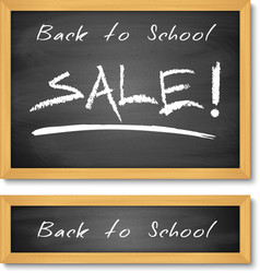 Back to School Wooden Black Chalkboard vector