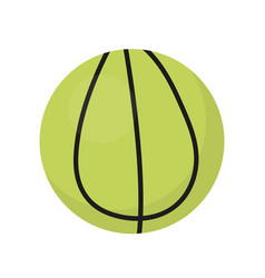 ball for tennis icon flat cartoon style vector image
