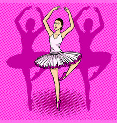 ballet dancer pop art vector image