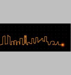 beirut light streak skyline vector image