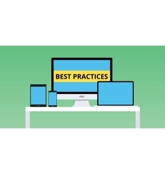 best practice practices with notebook vector image