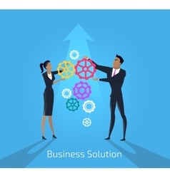 Business solution Man and woman vector image