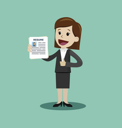 businesswoman or manager in the suit holding vector image