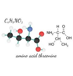 C4H9NO3 threonine amino acid molecule vector
