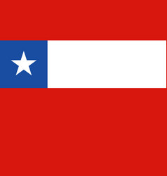 Chile flag icon in flat style national sign vector