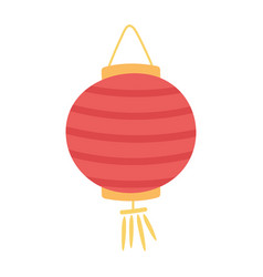 Chinese lantern celebration festival isolated icon vector