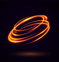 Circular lens flare vector
