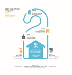 Cleaning service infographic vector image