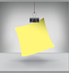 Clip note vector