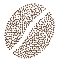 Coffee bean composition with coffee seeds vector
