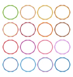 Colorful Set of Circle Vintage Frames vector image