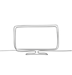 continuous one line drawing flat screen vector image