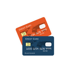 credit card graphic design vector image