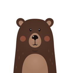 cute bear woodland forest animal vector image