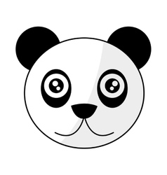 cute panda cartoon icon vector image
