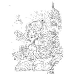 Cute princess fairy girl vector