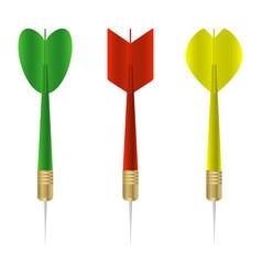 dart set vector image