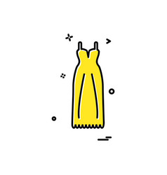 dress icon design vector image