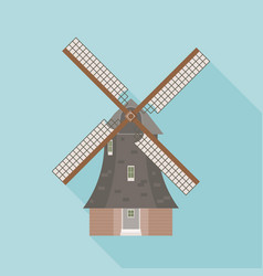 dutch windmill vector image