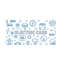 electric cars horizontal in vector image