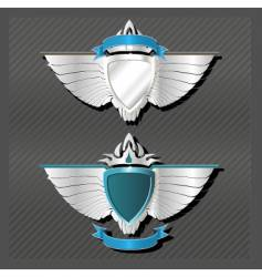 emblems series wings vector image
