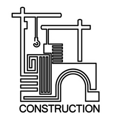 engineering and construction vector image