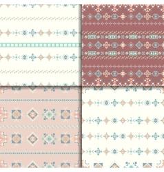 Ethnic seamless pattern set vector