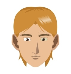 face of young blonde man icon vector image