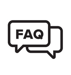 Faq chat bubble ask dialog web icon vector