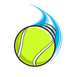 Fast paced flying tennis ball vector