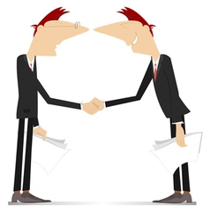 Firm handshake vector image