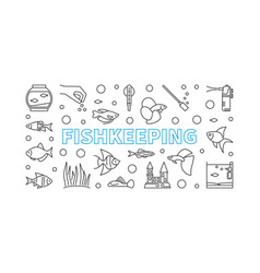 fishkeeping concept horizontal vector image