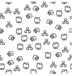 folder with important cloud file seamless pattern vector image
