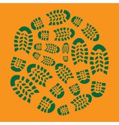 Footprint Eco vector